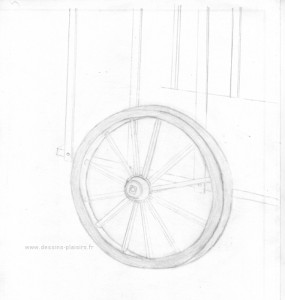 drawing of a wheel card