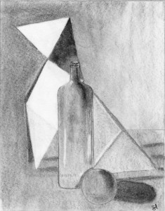 a drawing of a still life