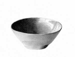 A drawing of a bowl