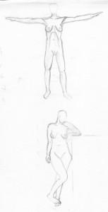 A sketch of nudes