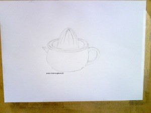 the second sketch with the contruction lines