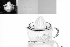 The drawing of a lemon squeezer