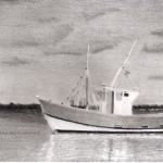 a fishing boat drawing