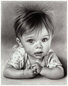 a drawing of a baby