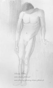sketch of a man nude