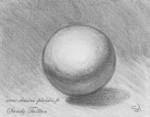 A drawing of a ball of Sandy Taillan