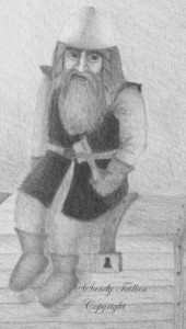 a part of my drawing: Dwarf personnage