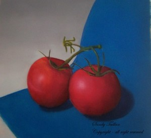 my painting about tomatoes
